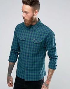 Рубашка в стиле вестерн с длинными рукавами Wrangler Heritage - Зеленый