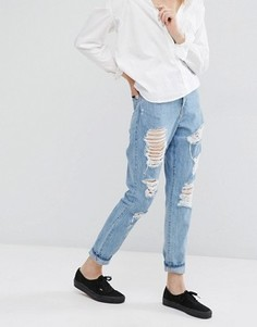 Рваные джинсы в винтажном стиле Dr Denim - Синий