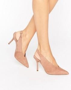 Остроносые туфли на каблуке с открытой пяткой ALDO Minett - Бежевый