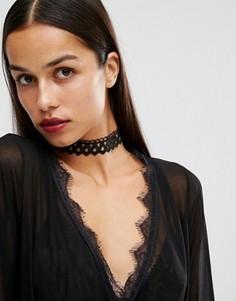 Ожерелье-чокер для Хэллоуина Missguided - Черный