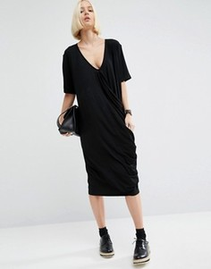 Платье с драпировкой ASOS WHITE - Черный