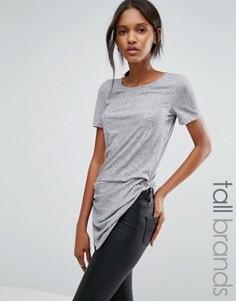 Асимметричная футболка Vero Moda Tall - Серый