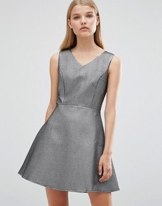 Приталенное платье Madame Rage - Серебряный