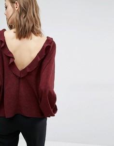 Блузка с рюшами Ba&sh Rita - Красный Ba&Sh