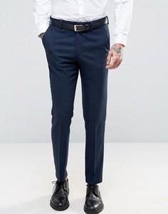Темно-синие фактурные брюки скинни ASOS - Темно-синий