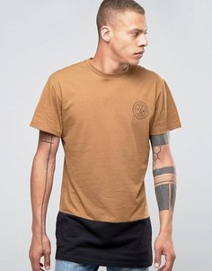 Длинная футболка со вставкой Friend or Faux Militia - Коричневый