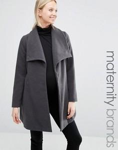 Куртка для беременных с драпировкой Mamalicous - Серый Mama.Licious