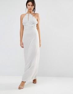 Шифоновое платье макси Maya - Серый