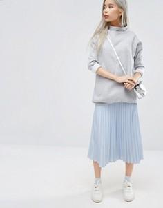 Плиссированная юбка миди STYLENANDA - Синий