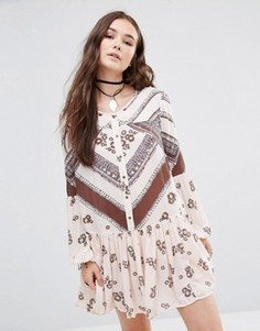 Платье с присборенной юбкой Free People From Your Heart - Кремовый