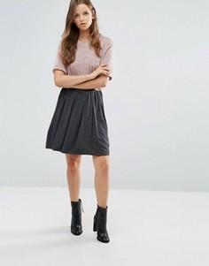 Серая плиссированная юбка Lavand - Серый