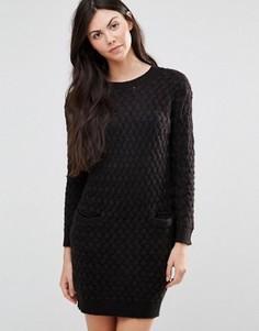 Цельнокройное платье с карманами Lavand Black - Черный