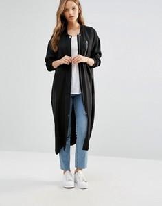 Свободное пальто Minimum - Черный