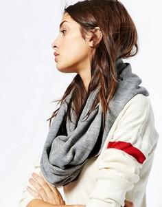 Шарф на флисовой подкладке Plush Infinity - Серый