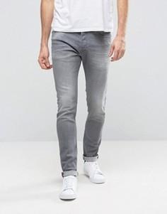 Светло-серые выбеленные джинсы скинни Diesel Tepphar 853T - Серый