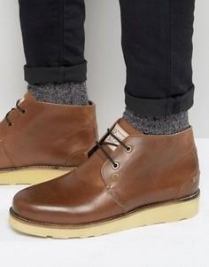 Коричневые кожаные ботинки чукка Original Penguin - Рыжий