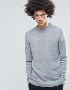 Вязаный меланжевый джемпер Weekday Free - Серый