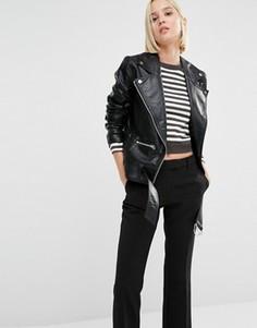 Свободная байкерская куртка из искусственной кожи Cheap Monday - Черный