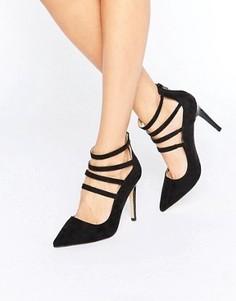 Туфли на каблуке с ремешками Head Over Heels By Dune Alora - Черный