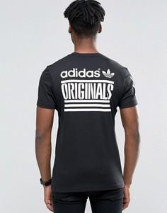 Черная футболка с принтом adidas Originals AZ1021 - Черный