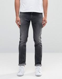Выбеленные черные джинсы с потертостями Sisley - Черный