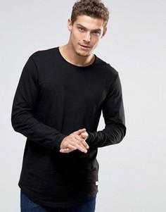 Удлиненный лонгслив Esprit - Черный