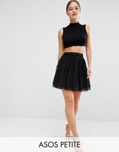 Тюлевая мини-юбка для выпускного ASOS PETITE - Черный