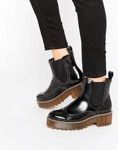 Массивные ботинки Monki - Черный