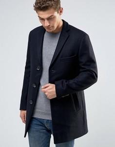 Шерстяное пальто Esprit - Темно-синий