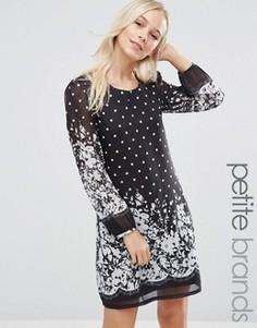 Цельнокройное платье в горошек Yumi Petite - Черный