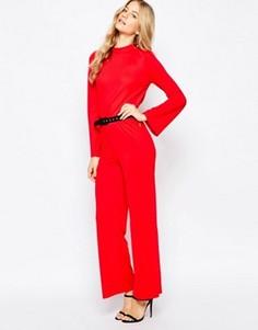 Комбинезон с высокой горловиной и открытой спиной Vero Moda - Красный