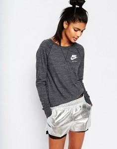 Свитшот в винтажном стиле с круглым вырезом Nike Gym - Серый