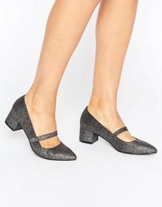 Туфли на низком каблуке с ремешком Miss KG - Серебряный