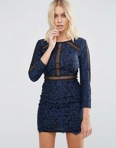 Платье с цветочным кружевом и декоративной отделкой Goldie Saving Grace - Синий