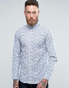 Рубашка в горошек Selected - Белый