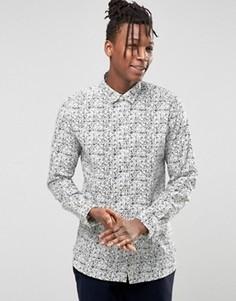 Рубашка с мелким цветочным принтом Selected - Кремовый