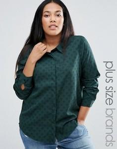 Рубашка с принтом сердец Brave Soul Plus - Зеленый