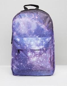 Рюкзак с принтом галактики Spiral - Фиолетовый