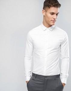 Белая оксфордская рубашка скинни ASOS - Белый