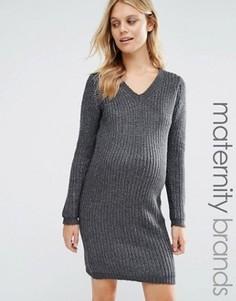 Платье-джемпер для беременных Mamalicious Maternity - Серый Mama.Licious