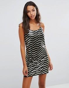 Платье мини с пайетками Vero Moda - Мульти