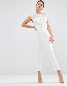 Комбинезон с вышивкой ASOS Premium - Белый