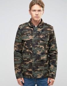 Камуфляжная куртка в стиле милитари Bellfield - Зеленый