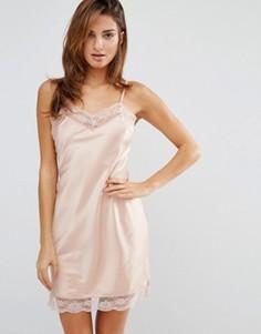 Блестящее платье-комбинация Y.A.S - Розовый