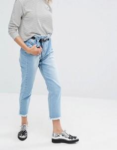 Джинсы в винтажном стиле с люверсами на поясе Daisy Street - Синий