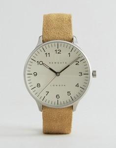 Часы с замшевым ремешком и кремовым циферблатом Newgate Blip - Рыжий