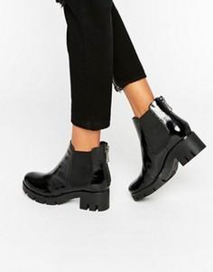Блестящие ботинки челси ALDO - Черный