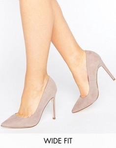 Туфли для широкой стопы на каблуке с острым носком ASOS PLAYFUL - Серый