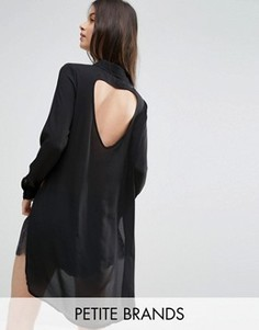 Платье-рубашка с разрезами Vero Moda Petite - Черный