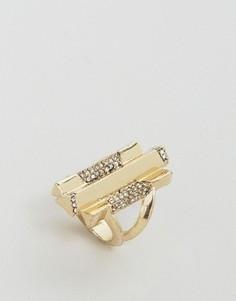 Золотистое кольцо с камнями House Of Harlow - Золотой